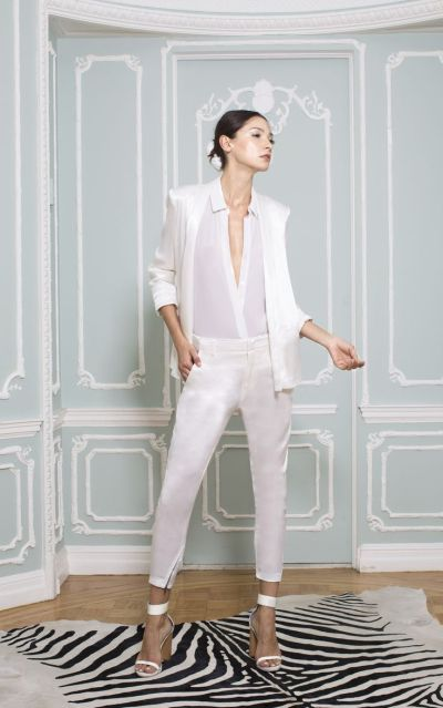 alice + olivia white suit
