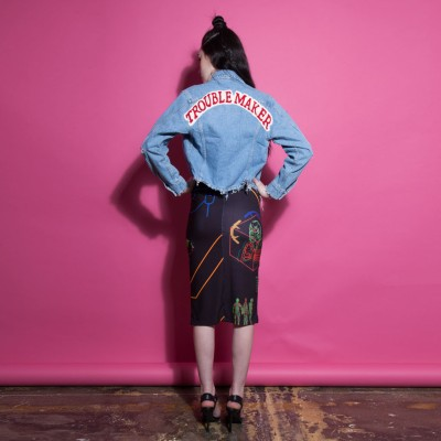 Trouble Maker Denim Jacket by High Heels Suicide