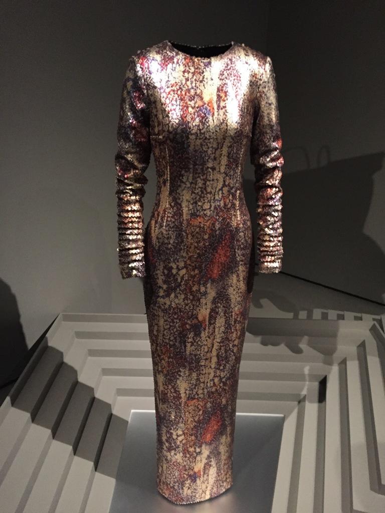 Engineered Reptile Print dress